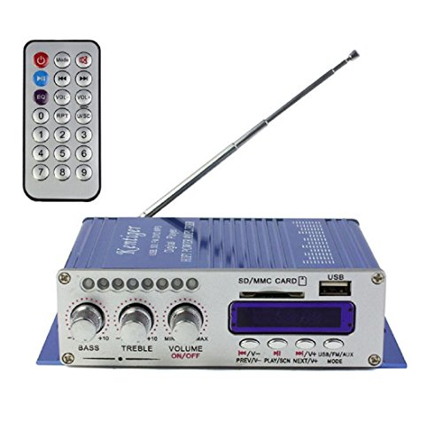 AutumnFall 2CH 200W Power Mini HiFi Audio Stereo AMP Amplifier For ipod Car Home MP3 FM