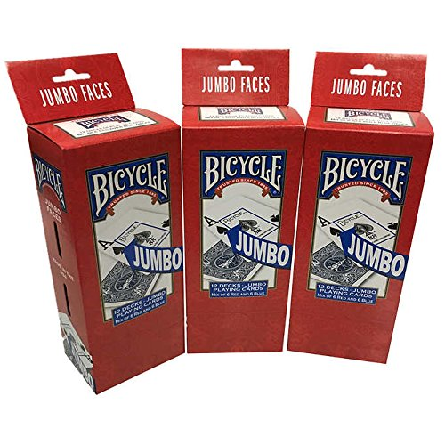 Bicycle Playing Cards 3-pack (36 Decks) (Jumbo) by Bicycle