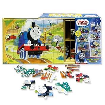 Thomas 8 Wood Puzzles In Wooden Storage Box  sc 1 st  Amazon.com & Amazon.com: Thomas 8 Wood Puzzles In Wooden Storage Box: Toys u0026 Games