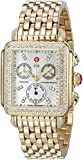 MICHELE Women's MWW06P000100 Deco Analog Display Swiss Quartz Gold...