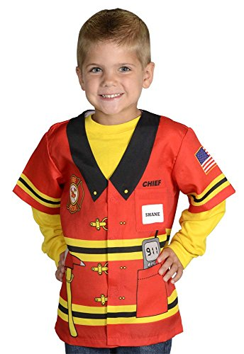 Aeromax My 1st Career Gear Firefighter, Easy to put on shirt fits most ages 3 to (Daycare Worker Costume)