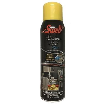 Simoniz Swell Stainless Steel Chrome Cleaner Polish Aerosol Spray 15 oz