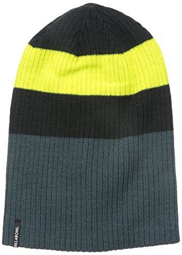 Billabong Men's Slice Reversible Beanie, Black, One Size
