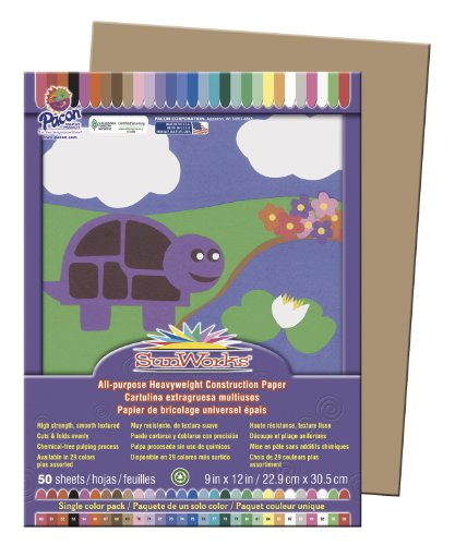 SunWorks® Construction Paper 50 SHEETS 9X12 IN LIGHT BROWN ALL PURPOSE