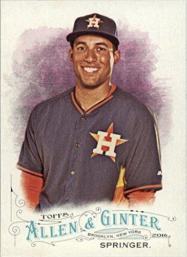 2016 Topps Allen and Ginter Baseball #197 George Springer Houston - Album Photo Houston Astros