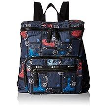 LeSportsac Women's Portable Backpack, World Travel Blue