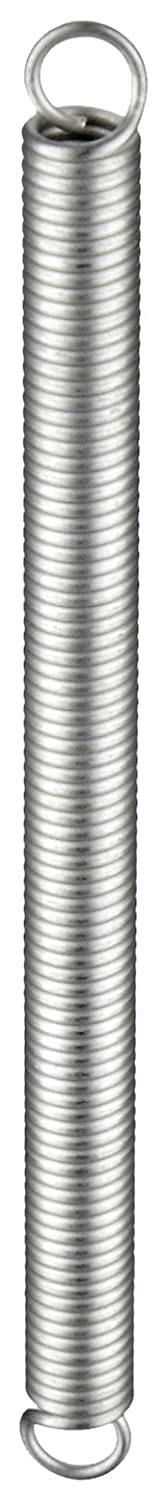 3.5 lbs Load Capacity 2.91 Extended Length Extension Spring Inch 302 Stainless Steel 0.026 Wire Size 0.18 OD 2.75 lbs//in Spring Rate 1.75 Free Length Pack of 10