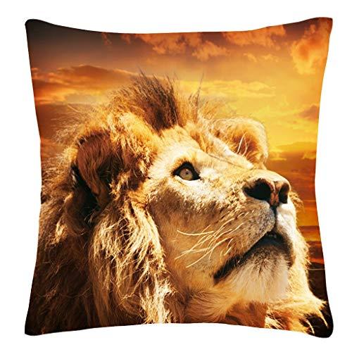 - Sanmenxia Decor Animals Throw Pillow Case Hand Painted Cushion Cover PillowCases 18X18 inches(Multicolor)