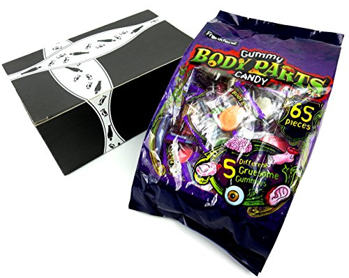 Frankford Gummy Body Parts Candy, 17.2 oz Bag (65 Pieces) in a BlackTie Box for $<!--$13.99-->