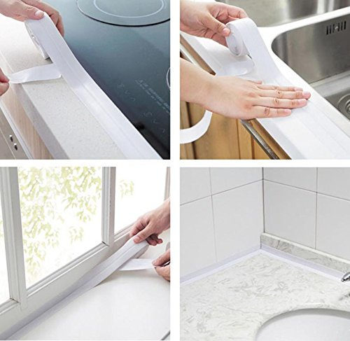 MSOO Wall Sealing Tape Waterproof Mold Proof Adhesive Tape Kitchen Bathroom (Big)