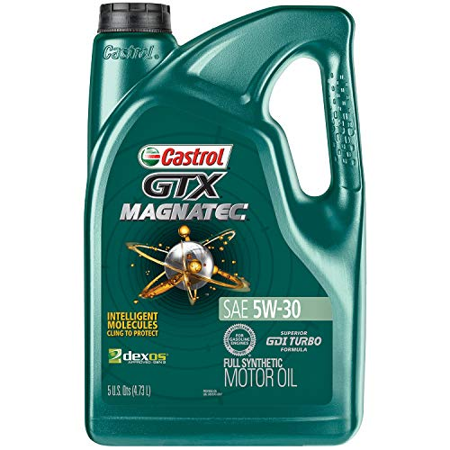 Castrol 03057 GTX MAGNATEC 5W-30 Full Synthetic Motor Oil, 5 Quart, 3 Pack