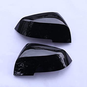 2Pcs Side Door Rearview Mirror Cover Trim For BMW 3 Series GT F30 F34 2013-2017