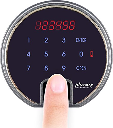 Phoenix DBAUM Fingerprint Lock Luxury Fireproof Safe with Walnut Door 2.28 cu ft by Phoenix Safe International (Image #4)