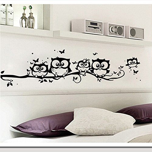 JD Million shop wall sticker tree animals bedroom Owl Butterfly Wall Stickers home decor living room butterfly for kids rooms vinilos paredes 20