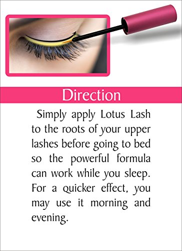 a780af14c59 Lotus Eyelash Growth Serum FDA Approved 3ml-Best Natural Lash Enhancing  Treatment - Grows Longer