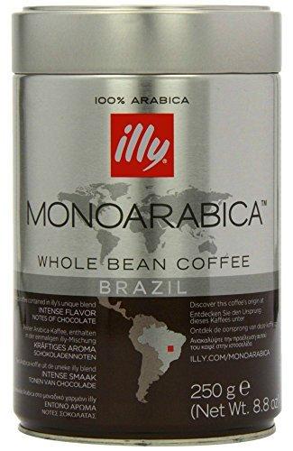 Illy Monoarabica Whole Bean, Single Origin Brazil Coffee Beans 8.8 - Whole Illy Bean