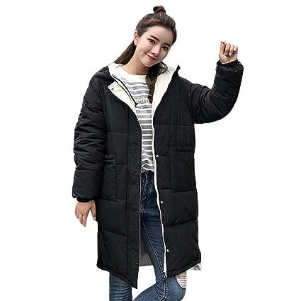 FuweiEncore Abrigo de Invierno Abrigo de Damas, Moda para Mujer Invierno Cálido Manga Larga Abrigo