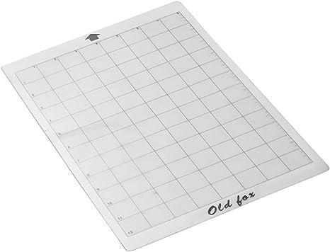 Docooler Cutting Mat Estera adhesiva transparente con rejilla de medición de 8 por 12 pulgadas para Silhouette Cameut Cricut Explore Plotter, 1pcs: Amazon.es: Oficina y papelería