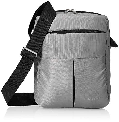 Amazon Brand – Solimo Nylon Cross Body Sling Bag for Men and Women, Grey