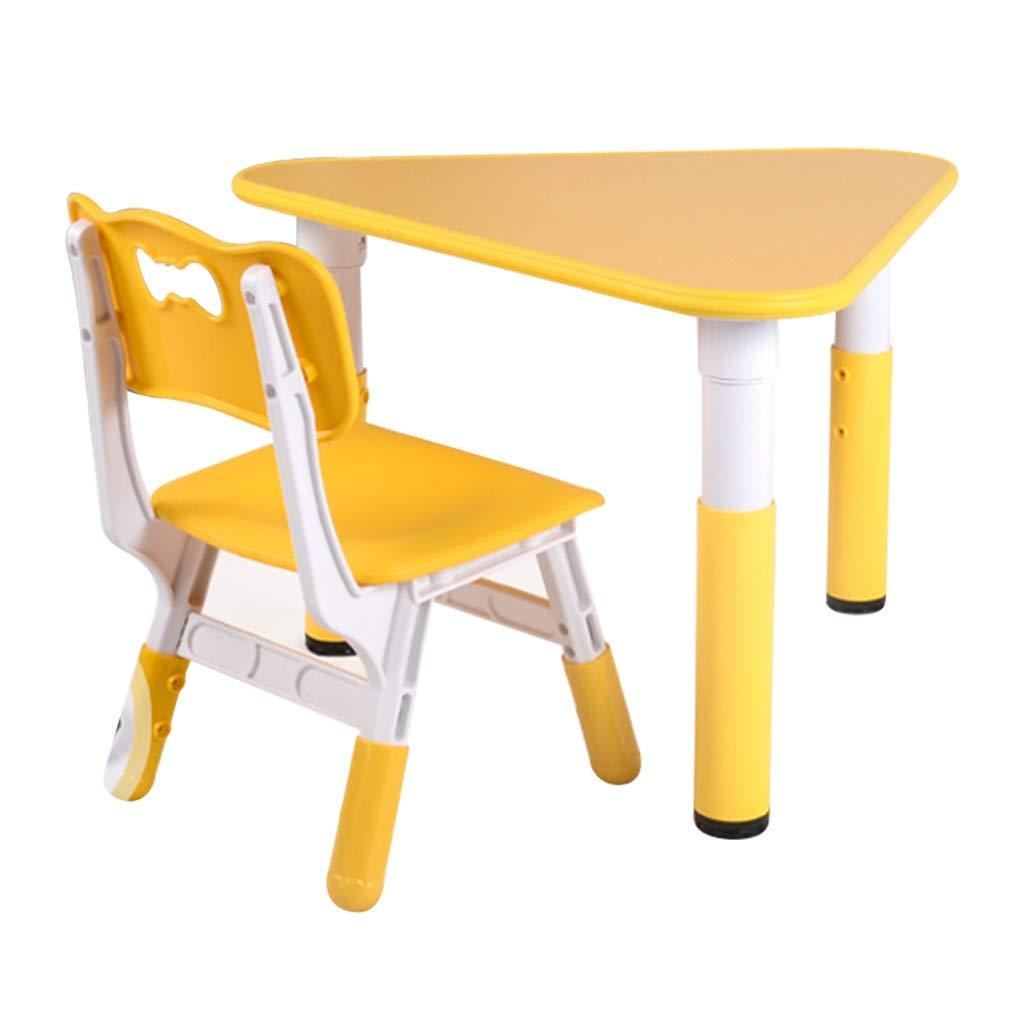 comprar marca amarillo Mesa de Estudio Estudio Estudio para niños Sala de Aprendizaje de niños escribiendo Juego de Mesa y Silla de Juego Mesa de Madera de triángulo Mesa de jardín (Color   verde)  toma