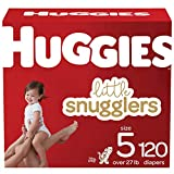 Baby Diapers Size 5, 120 Ct, Huggies Little Snugglers