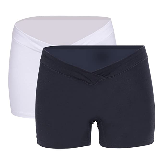 Gazechimp 2 Piezas Calzoncillos de Mujeres Embarazadas Pantalones de Premamá Pantalones Cortos para Premamá 4 Tallas