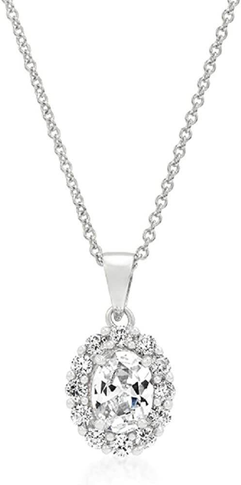 FB Jewels Solid Clear Stone Estate Pendant
