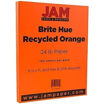 JAM Paper® 8 1/2 x 11 Paper - 24 lb Brite Hue Paper - 100 sheets per pack