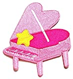 Nipitshop Patches Pink Grand Piano with Yellow Star