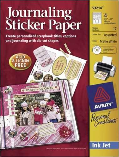 Avery Sticker Paper Matte Package