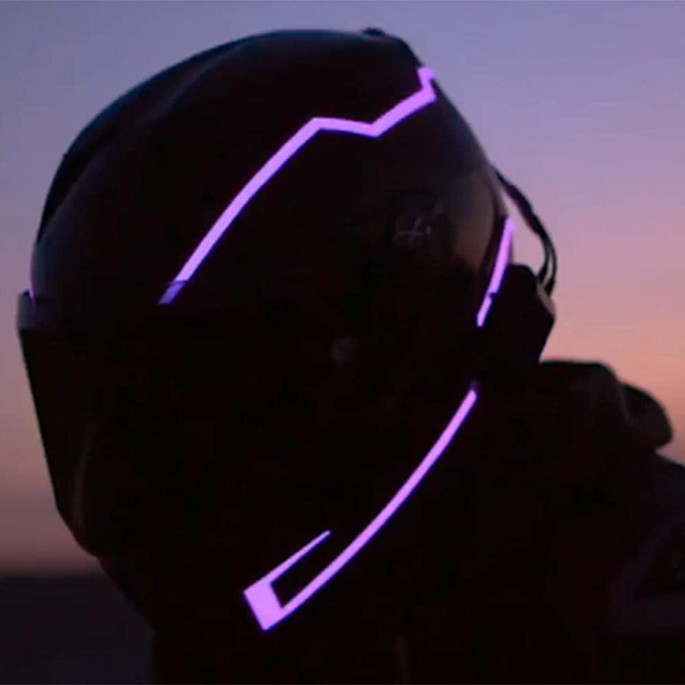 JIXIANG Motorradhelm Licht Mit Nachtlicht ABS M/änner Und Frauen Voller Gesicht Wind Reduzierung L/ärm Doppel Sonnenschirm F/ür Vier,OneColor-S
