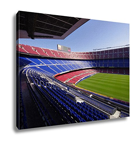 Ashley Canvas, Wide View Of Fc Barcelona Nou Camp Soccer Stadium, 24x30 by Ashley Canvas