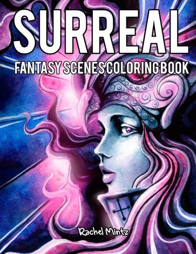 Surreal Fantasy Scenes Coloring Book: Medieval Knights, Valkyrie & Vikings, Dragon Heads - for Adults ()