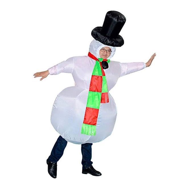 UHAoo Navidad Carnaval Adultos Muñeco Hinchable Disfraz ...