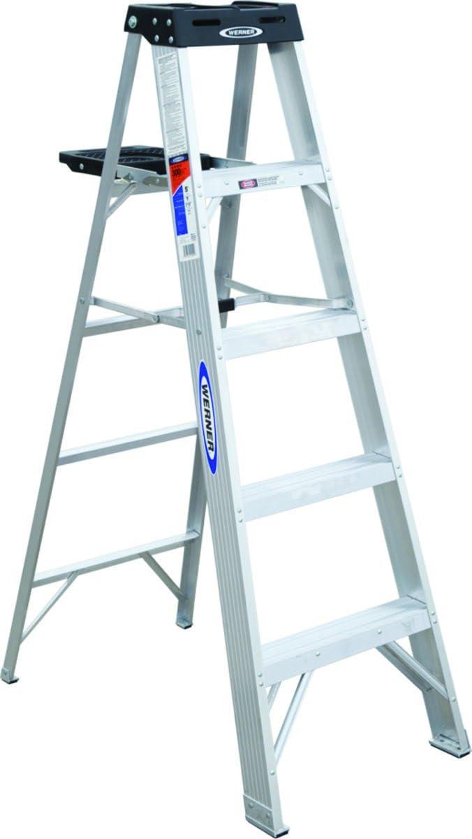 Werner escalera 375 aluminio escalera type1 a 5 ft: Amazon.es: Bricolaje y herramientas