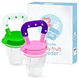 infant baby food - Baby Fruit Feeder Pacifier (2 Pack) - Fresh Food Feeder, Infant Fruit Teething Toy, Silicone Pouches for Toddlers & Kids by Ashtonbee