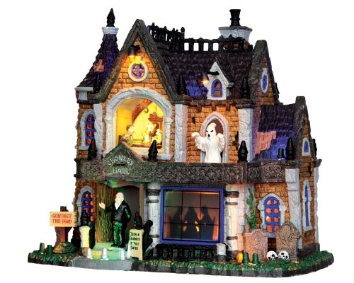 (Lemax 35552 Crowley Hall Spooky Town Village Lighted Building Halloween)