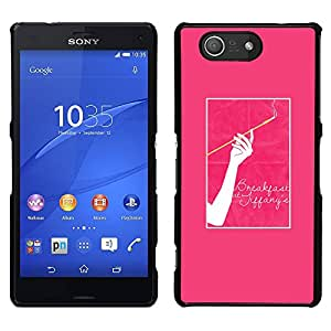 For Sony Xperia Z3 Compact , S-type® Cigarette Woman Pink Poster - Arte & diseño plástico duro Fundas Cover Cubre Hard Case Cover
