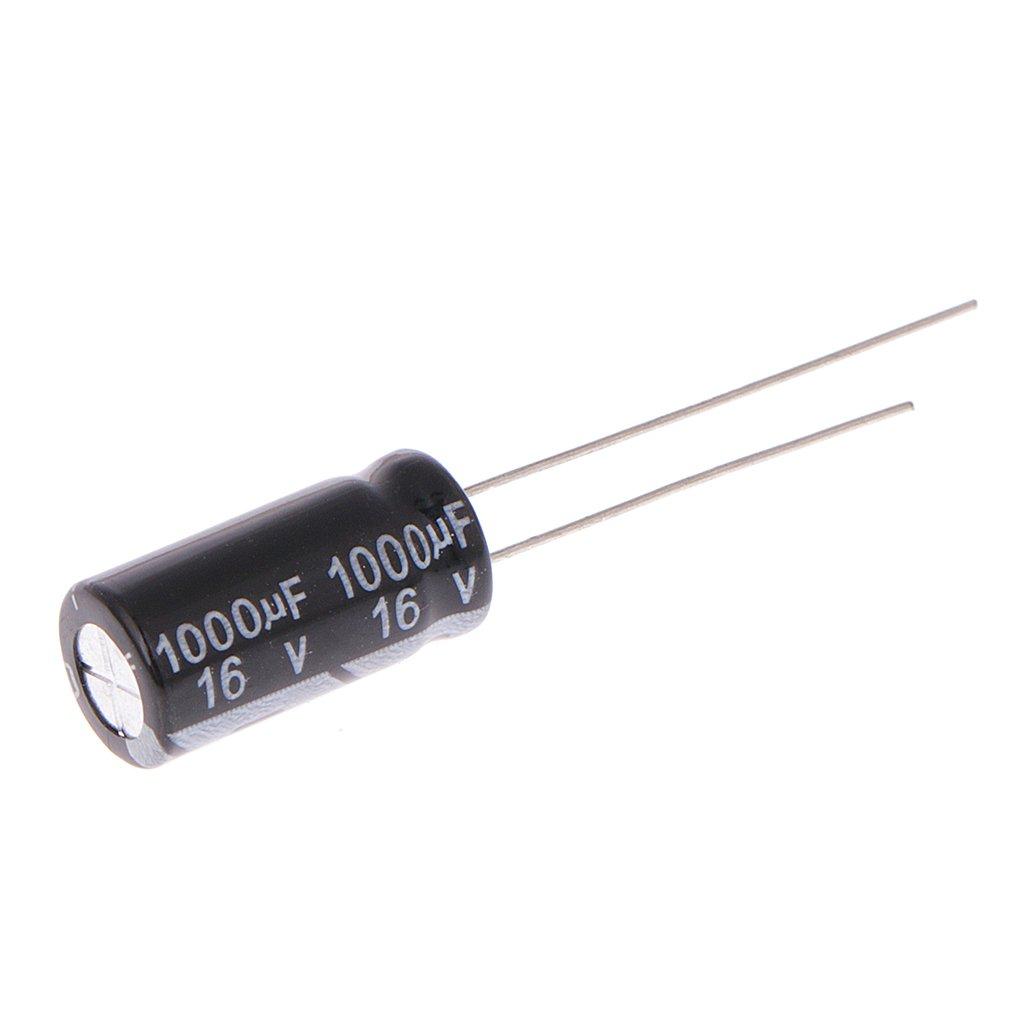 4 Unidades, 16 V, 1000uF, 105 /°C, /± 20/%, Aluminio Radial Condensador electrol/ítico FXCO