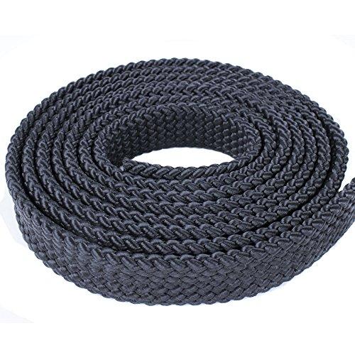Black, 25 Feet, 1 Inch PolyPro Rope - Flat Hollow Braid
