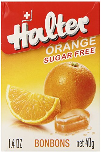 Halter Sugar Free Candy, Orange, 1.4-Ounce Boxes (Pack of 8)