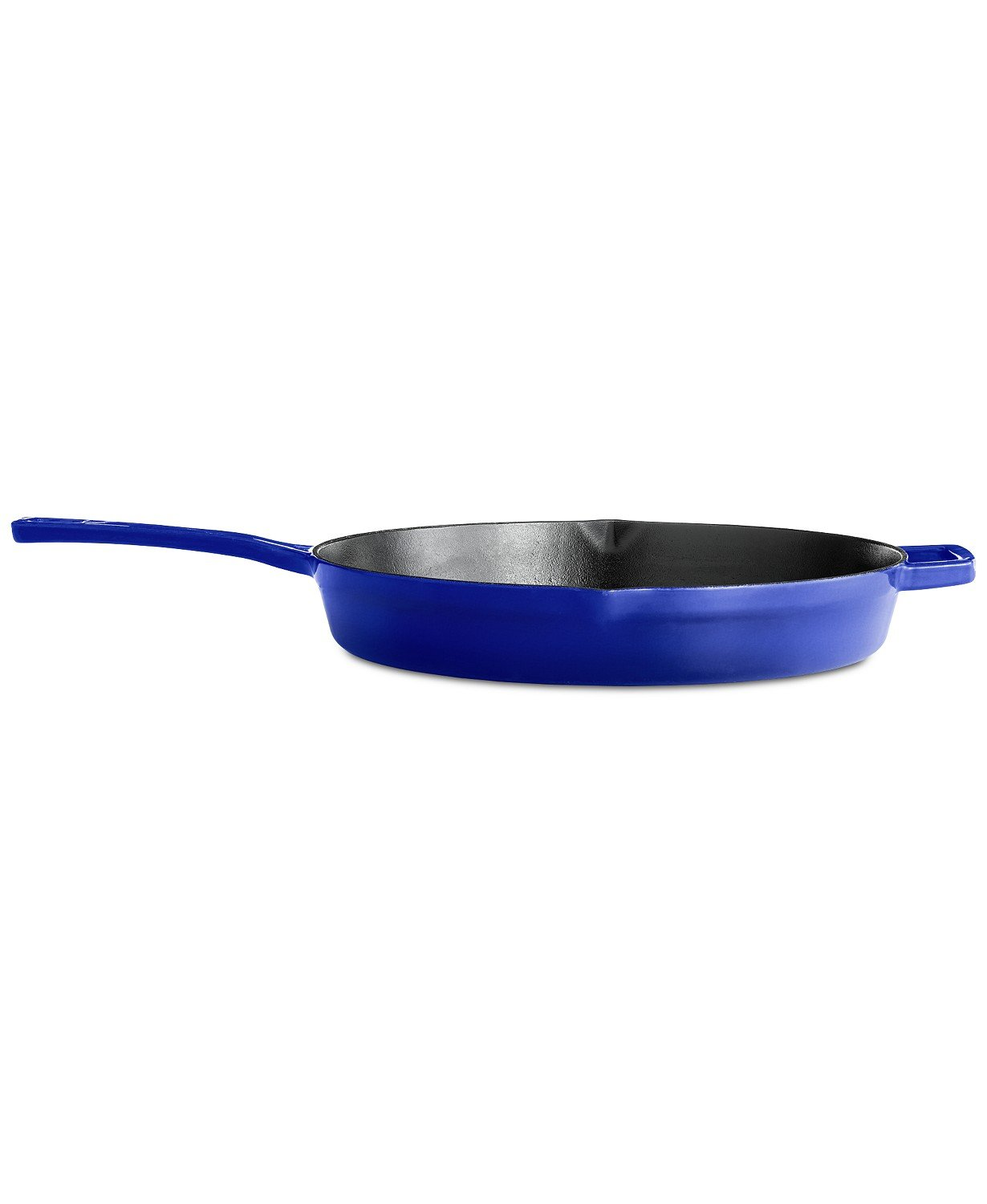 12'' Enameled Cast Iron Skillet & Fry Pan | Collector's Cast Iron Cookware | By Martha Stewart (Indigo)