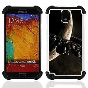 BullDog Case - FOR/Samsung Galaxy Note3 N9000 N9008V N9009 / - / Space Planet Galaxy Stars 11 /- H??brido Heavy Duty caja del tel??fono protector din??mico - silicona suave