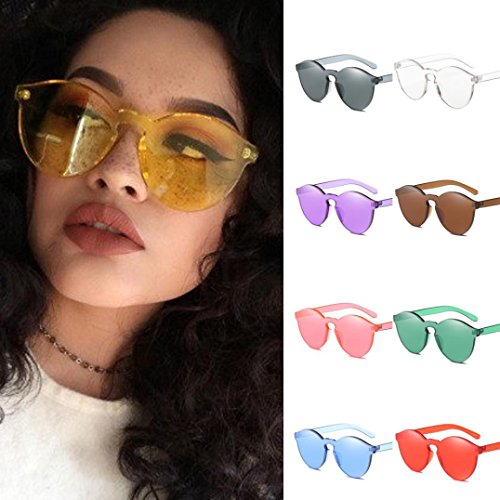 Donna Sole da da Integrati UV400 da Femminile Anguria Occhiali Cat Sole Sunglasses Colorati Occhiali Cristalli Eye Occhiali con da Color Moda NINGSUN Sole Caramelle Vintage Rossa xX5gZqTv