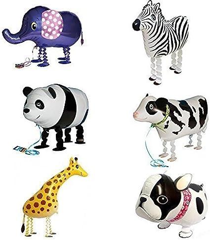 5 X Folienballon Zebra Bunt Tier Pferd Heliumballon Luftballon Kindergeburtstag