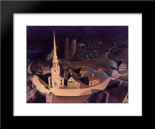 Grant Wood Prints - The Midnight Ride of Paul Revere 20x24 Framed Art Print by Grant Wood