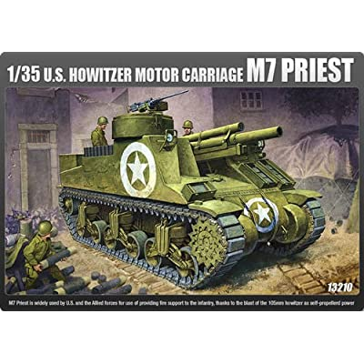 ACADEMY_1/35scale model kit U.S HOWITZER MOTOR CARRIAGE M7 PRIEST 13210: Toys & Games