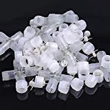 10 pcs 2 Wire 1/2'' Compression Connector LED Clear PVC Rope Lights X-Shape Type Accessories Pins Decorative Lamp