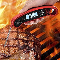 Akashi Instant Read Digital Meat Gourmet Food Thermometer Professional Super Fast Waterproof Multi Usable Lcd Screen Stove Oven Grill Bbq Rotisserie Sirloin Beef Chicken Turkey Steak Meat Thermometer