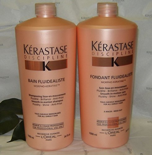 KERASTASE DISCIPLINE BAIN AND FONDANT FLUIDEALISTE 1000ml or 34oz COMBO PRO